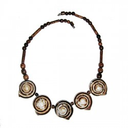 Necklace, made of Land Snails