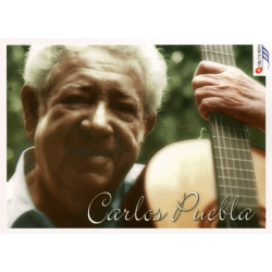 Carlos Puebla greetings card with CD