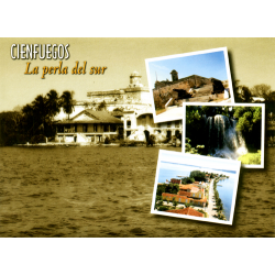 Cienfuegos (la perla del sur) greetings card with CD