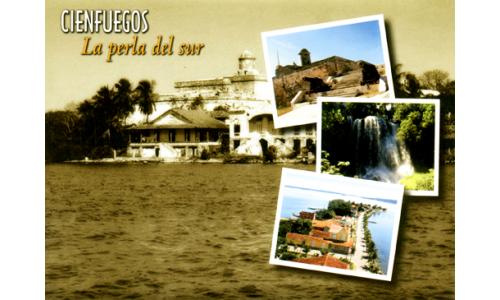 Cienfuegos (La Perla del Sur) greetings card with CD
