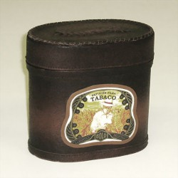 Leather Cigar Box/Humidor large 17cm
