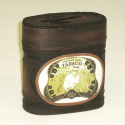 Leather Cigar Box/Humidor medium 12cm