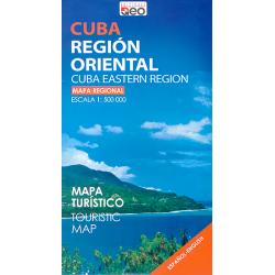 Map of Cuba Eastern Region