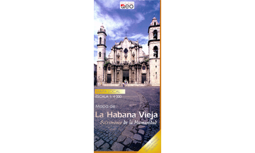 Map of Old Havana, Cuba (New Edition)